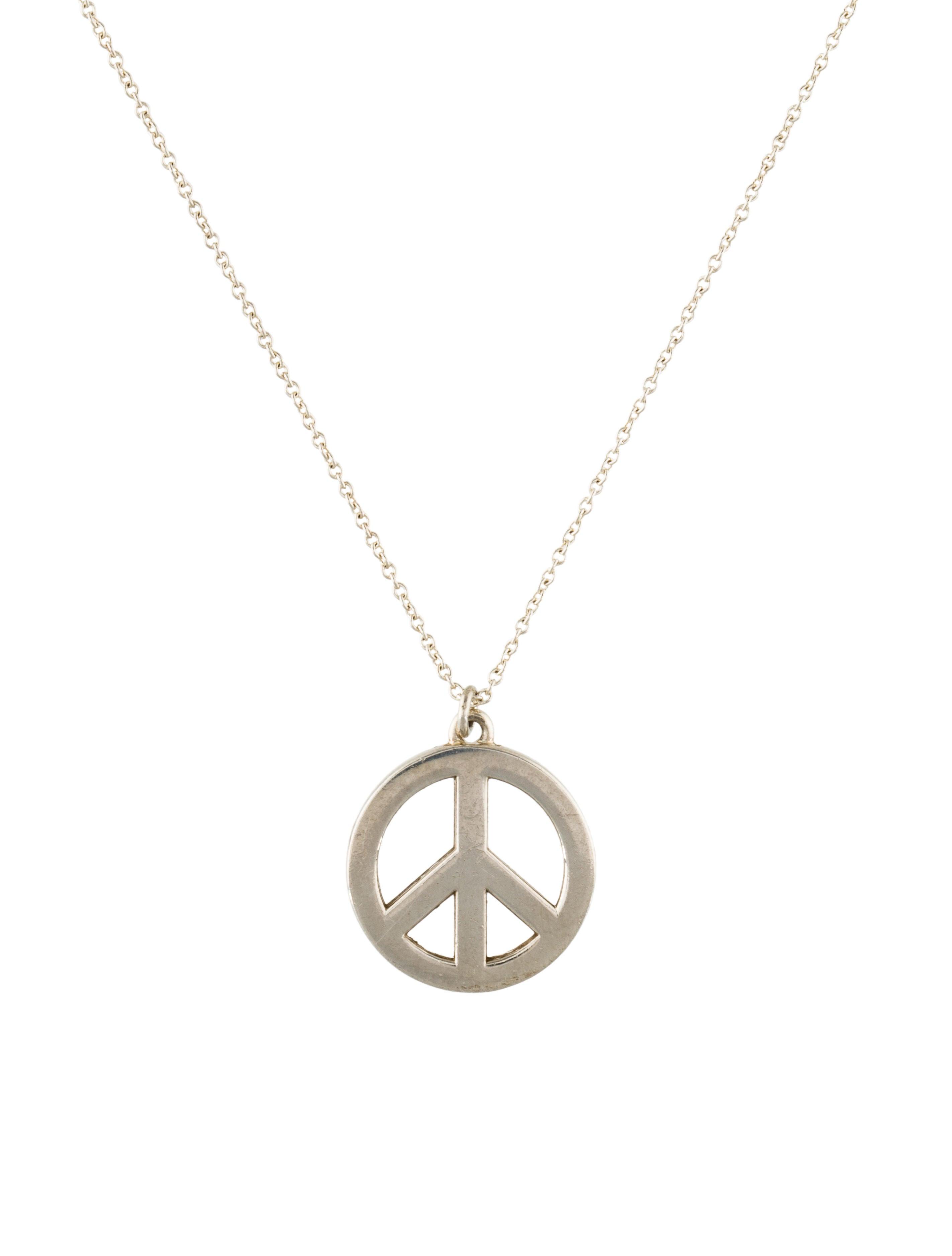 b614b552d Tiffany & Co. Peace Sign Pendant Necklace - Necklaces - TIF68569 ...
