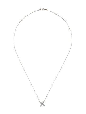 Platinum Diamond Victoria Pendant Necklace