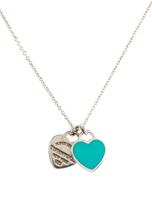 Tiffany co return to tiffany mini double heart tag pendant return to tiffany mini double heart tag pendant necklace aloadofball Image collections