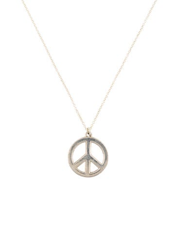 Tiffany co peace sign pendant necklace necklaces tif72371 peace sign pendant necklace aloadofball Images