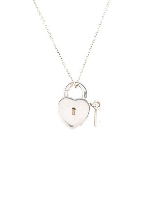 Tiffany Co Heart Lock Key Pendant Necklace Necklaces Tif72853 The Realreal