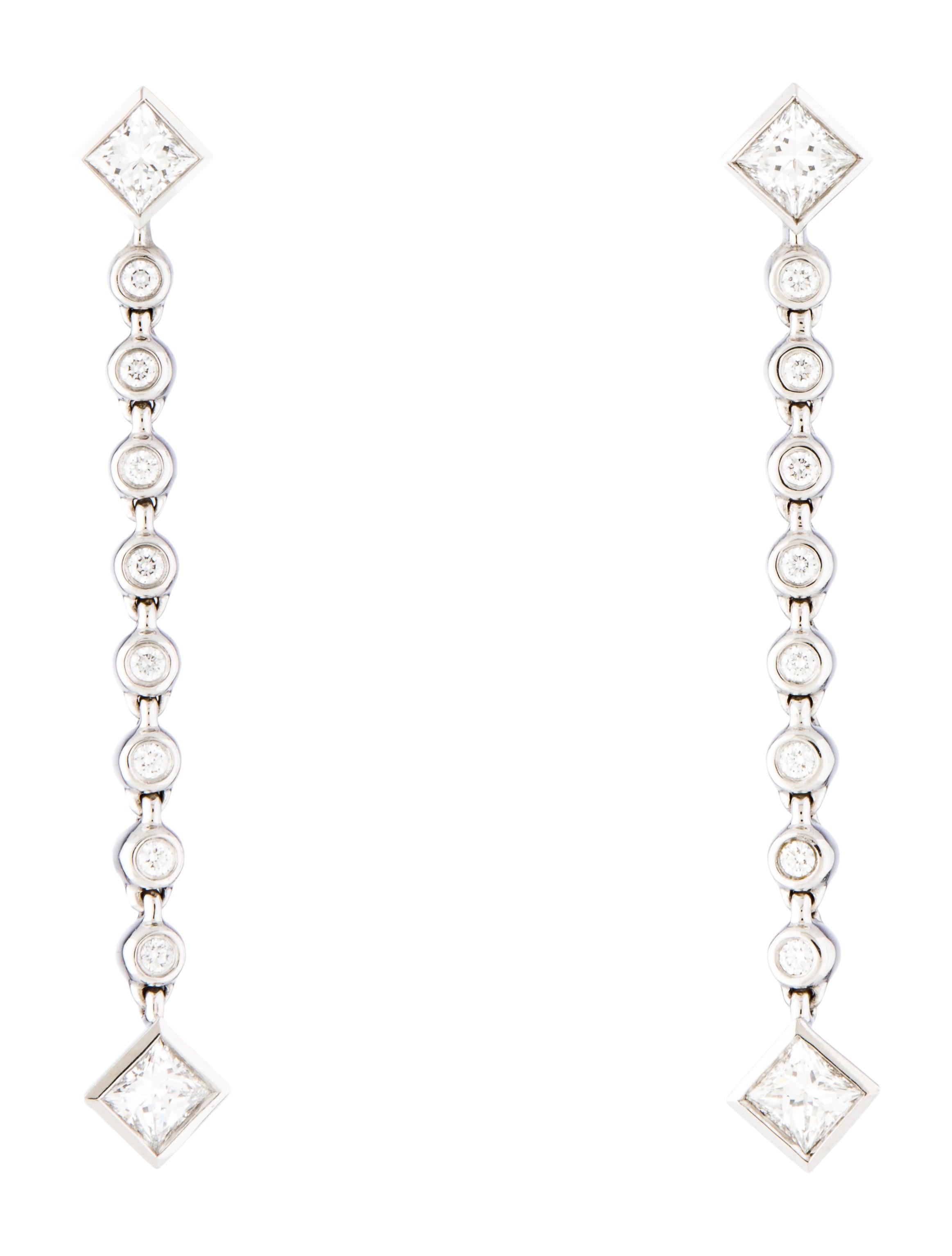 e2f29454e Tiffany & Co. Platinum Diamond Grace Earrings - Earrings - TIF72934 ...
