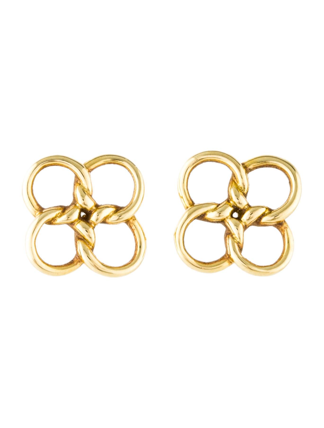 e452cece9 Tiffany & Co. 18K Quadrifoglio Stud Earrings - Earrings - TIF73349 ...
