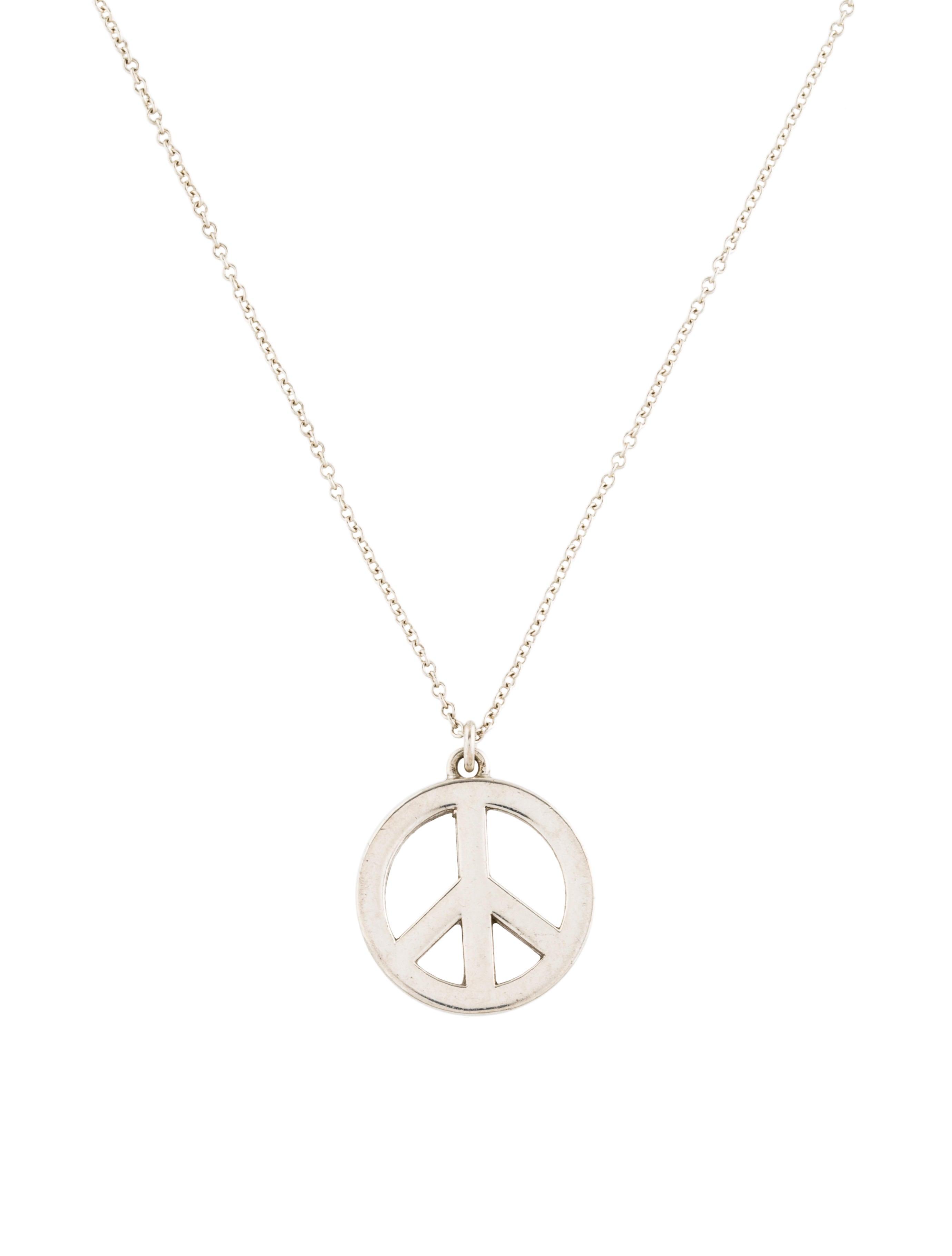 d5a2a917d Tiffany & Co. Peace Sign Pendant Necklace - Necklaces - TIF73434 ...