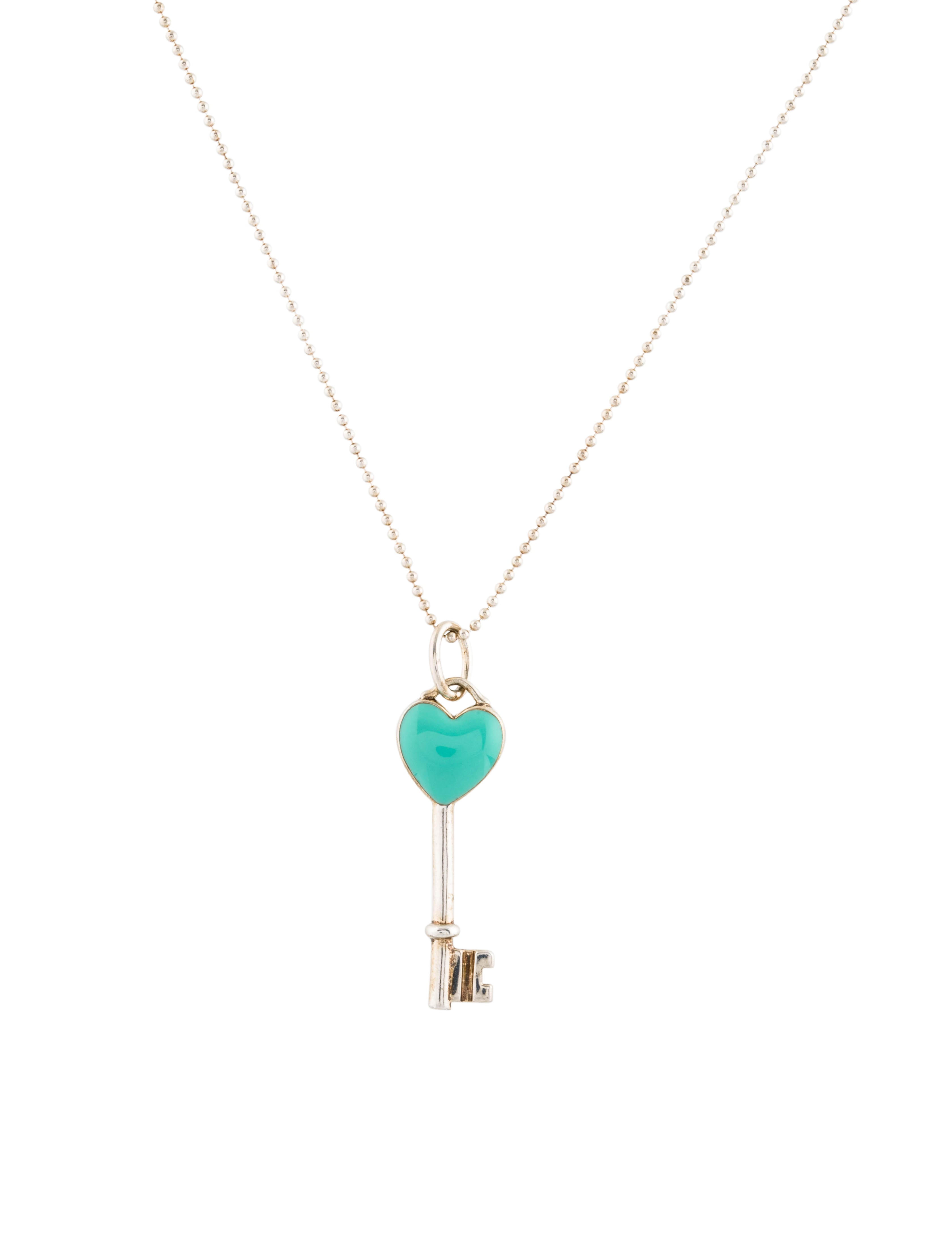 Tiffany co heart key pendant necklace necklaces tif73876 heart key pendant necklace aloadofball Image collections