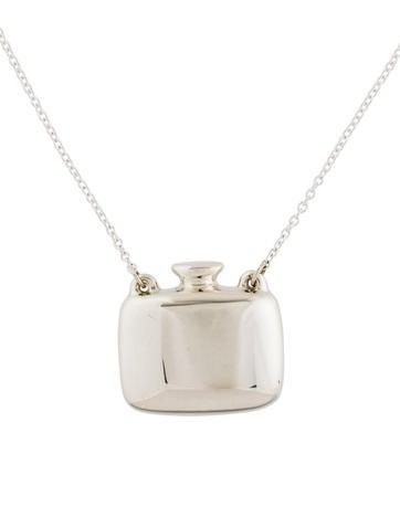 Tiffany co square bottle pendant necklace necklaces tif74213 square bottle pendant necklace aloadofball Choice Image