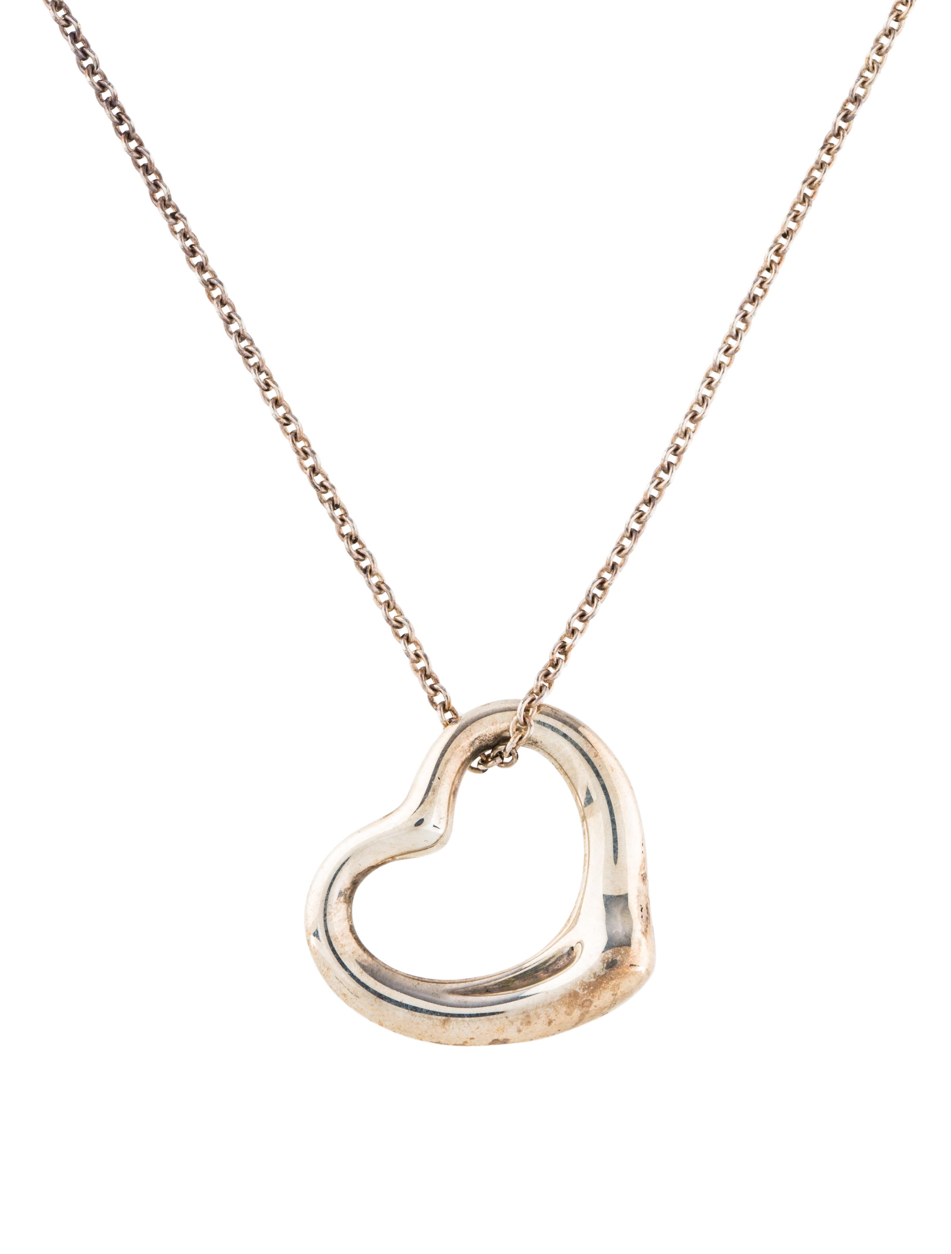 Tiffany co open heart pendant necklace necklaces tif74341 open heart pendant necklace aloadofball Gallery