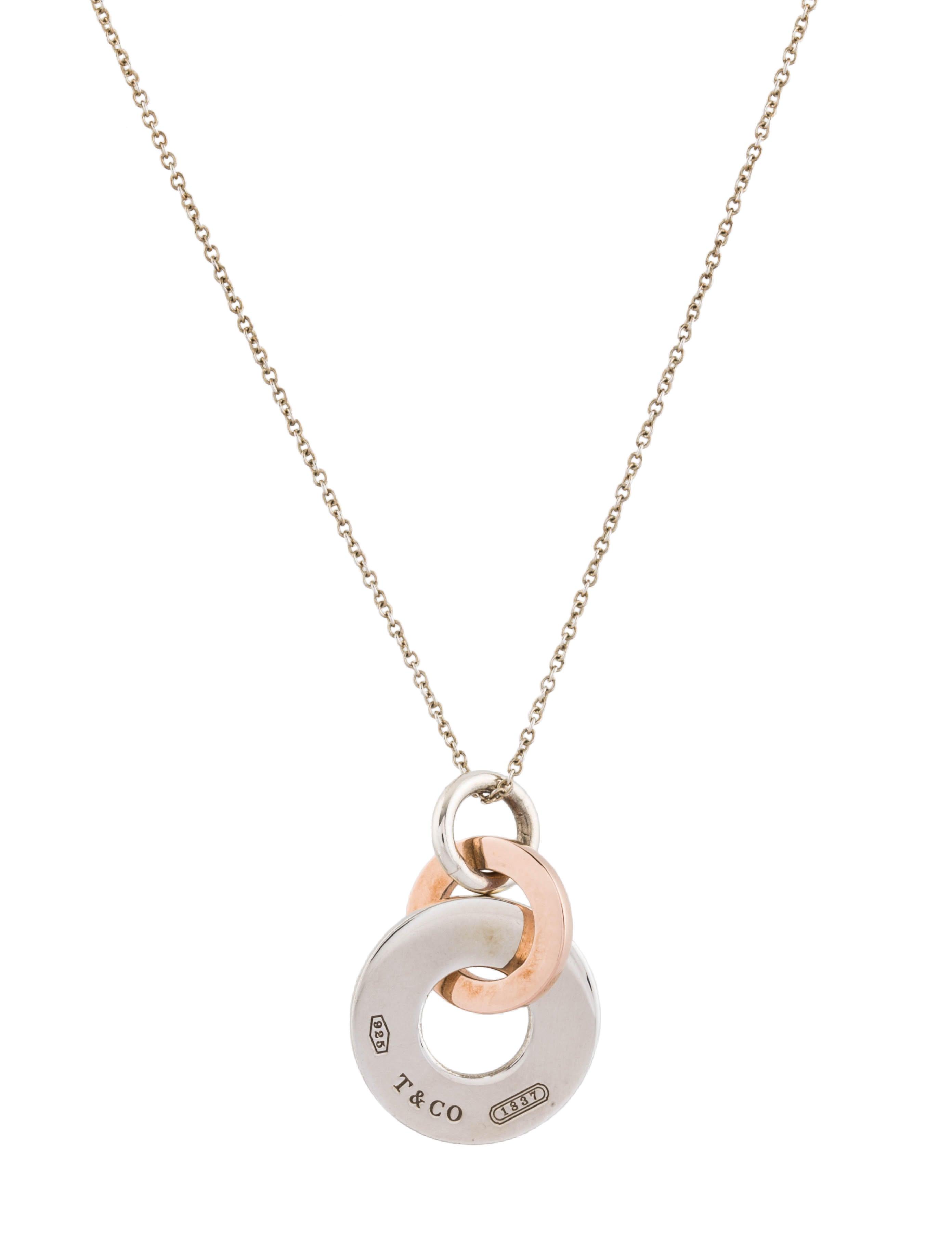 6e14f2ccf Tiffany & Co. 1837 Double Interlocking Drop Pendant Necklace ...