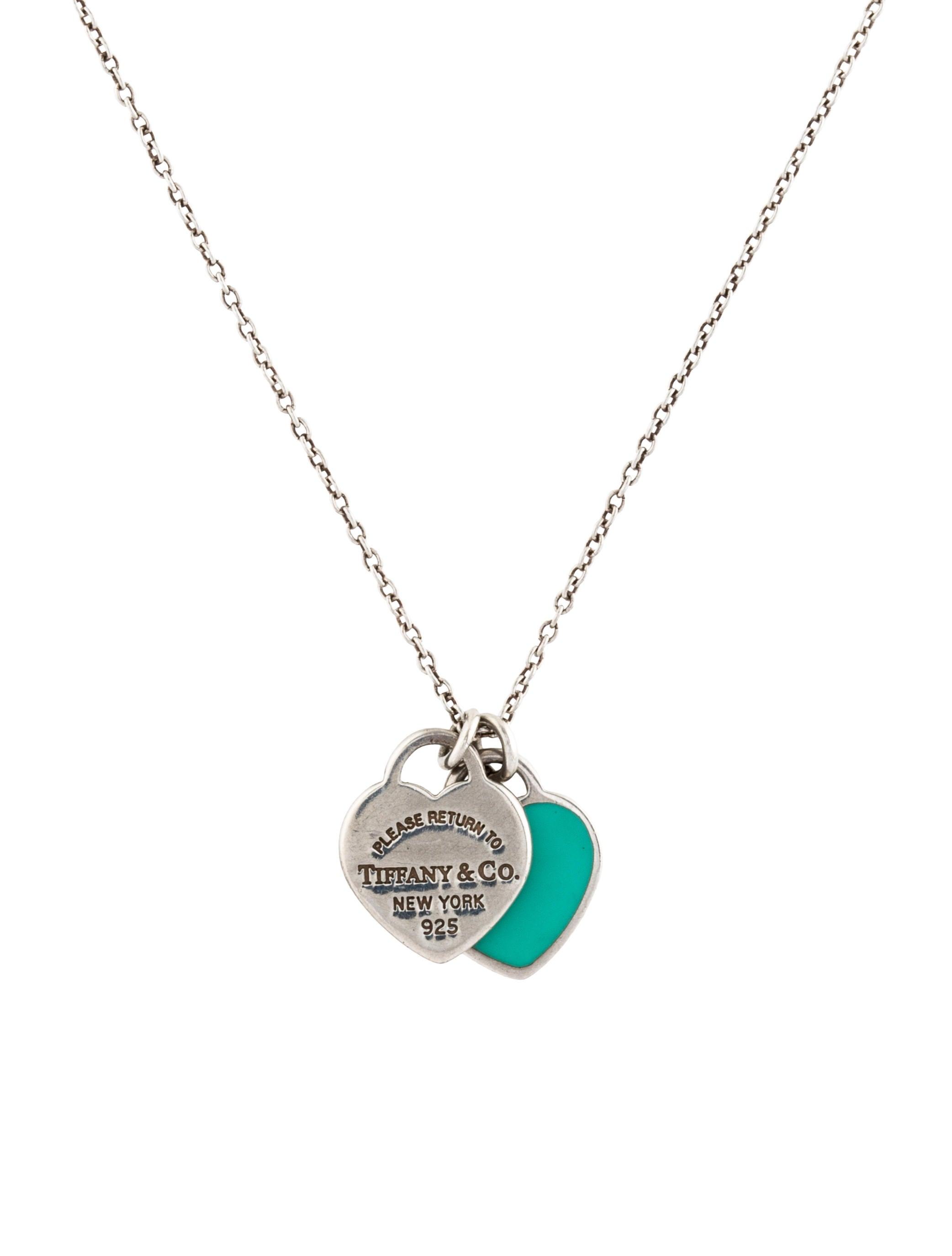 Tiffany co return to tiffany mini double heart tag pendant return to tiffany mini double heart tag pendant necklace aloadofball Choice Image
