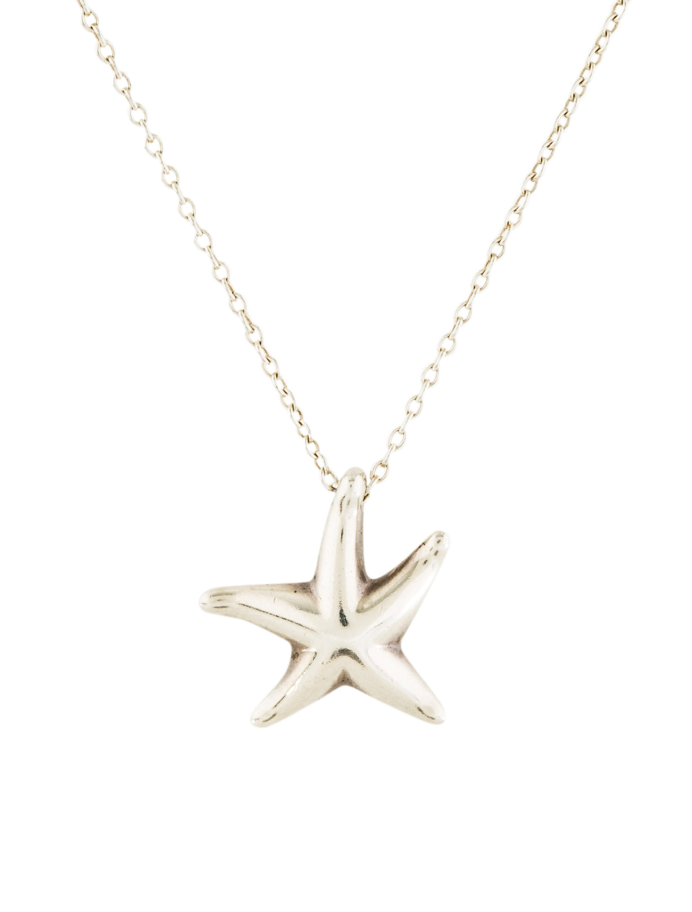 Tiffany co starfish pendant necklace necklaces tif75176 the starfish pendant necklace aloadofball Images