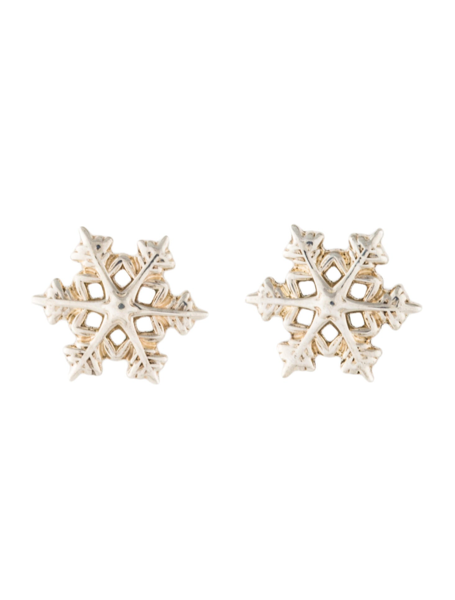 Tiffany Co Snowflake Stud Earrings