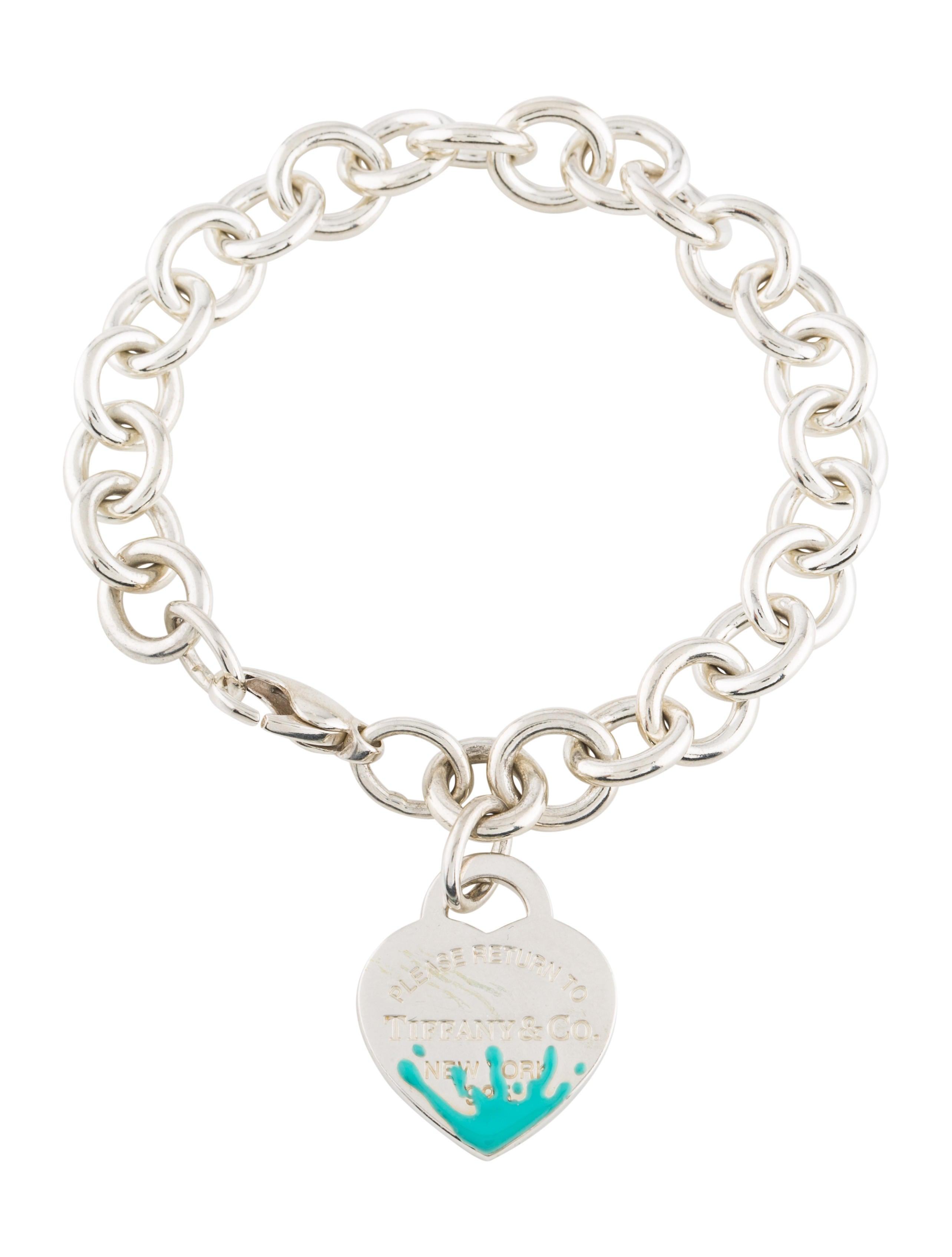 38330e375 Tiffany & Co. Color Splash Heart Tag Bracelet - Bracelets - TIF75400 ...