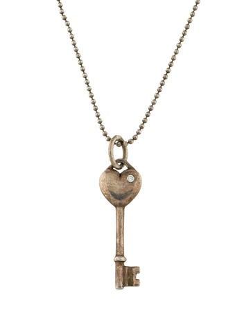 Tiffany co diamond heart key pendant necklace necklaces diamond heart key pendant necklace aloadofball Choice Image