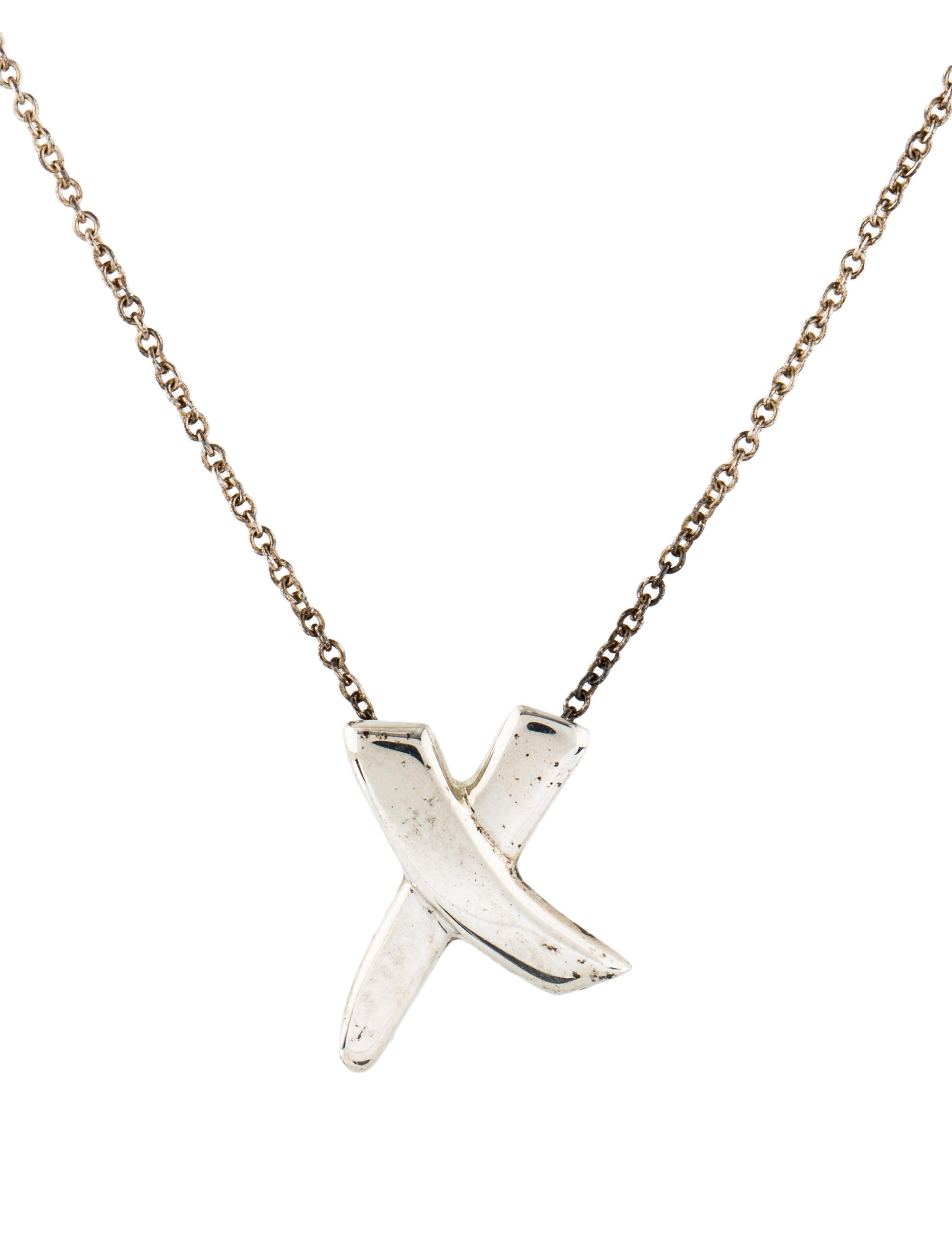 Tiffany co x pendant necklace necklaces tif76366 the realreal x pendant necklace aloadofball Gallery