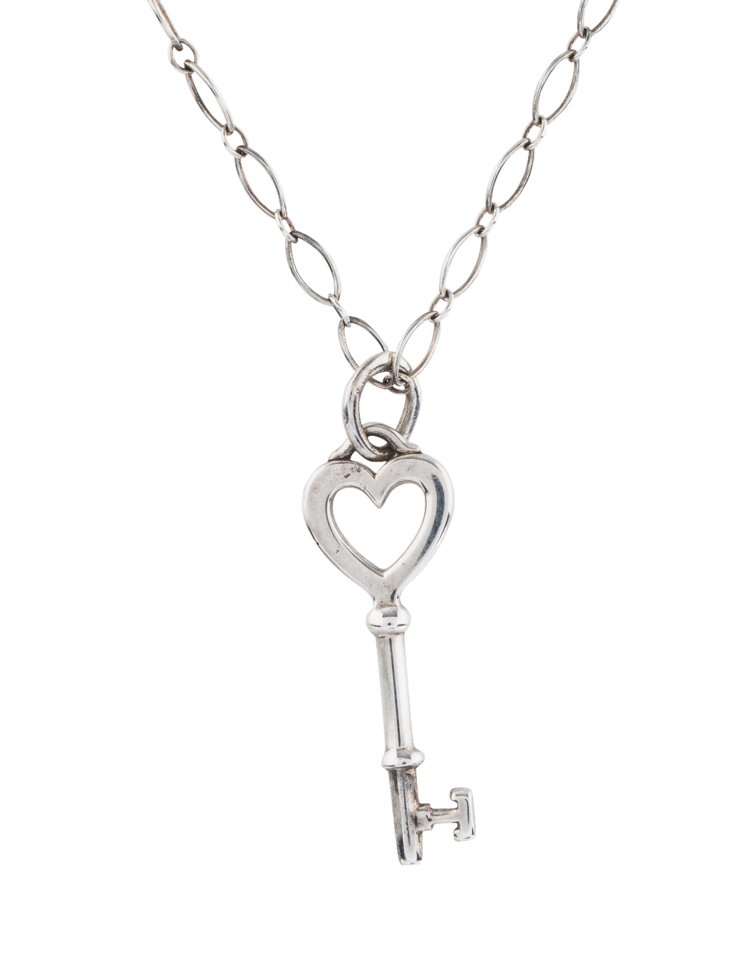 Tiffany co heart key pendant necklace necklaces tif76436 heart key pendant necklace aloadofball Choice Image