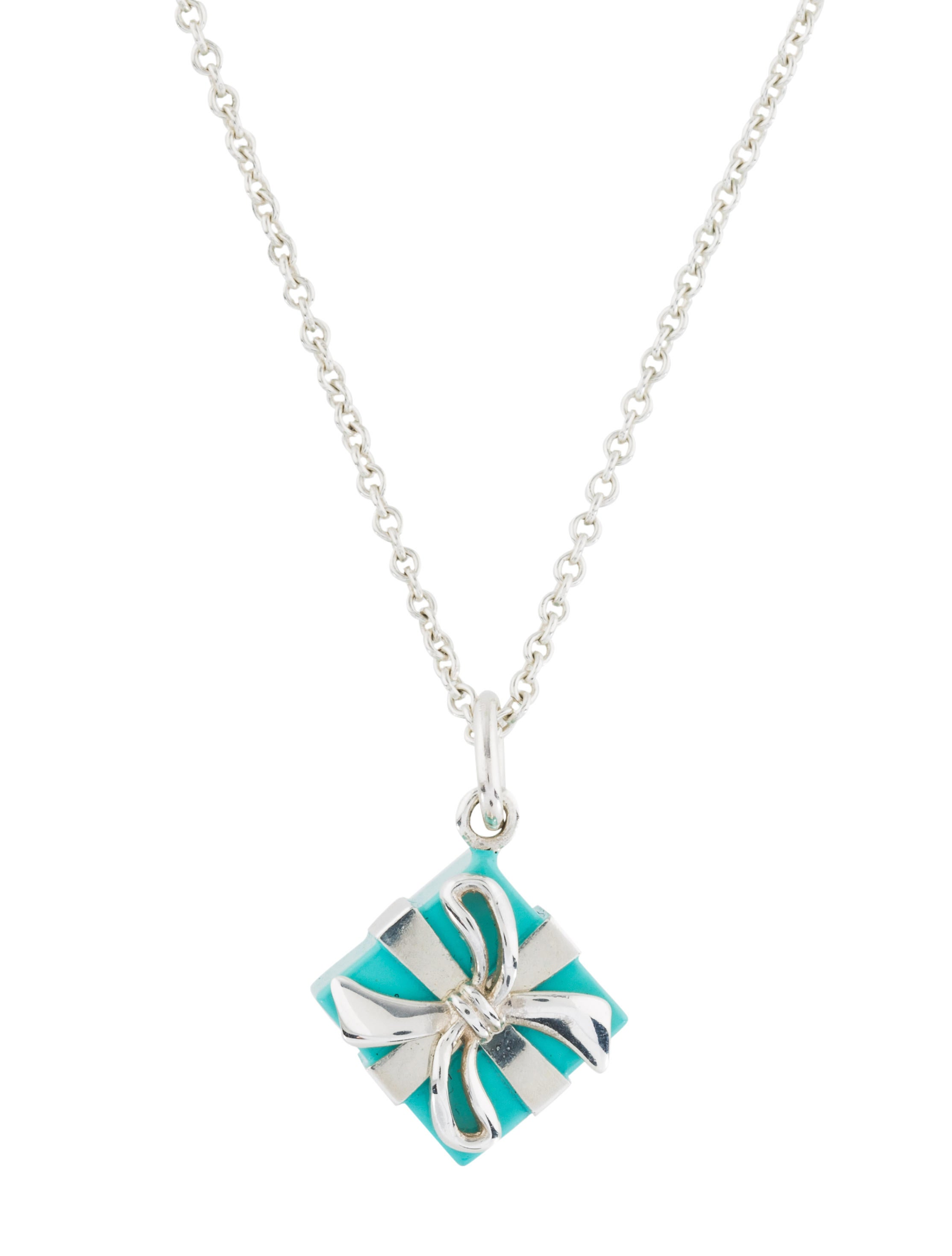 c3a58241d8 Tiffany & Co. Blue Box Pendant Necklace - Necklaces - TIF76616 | The ...