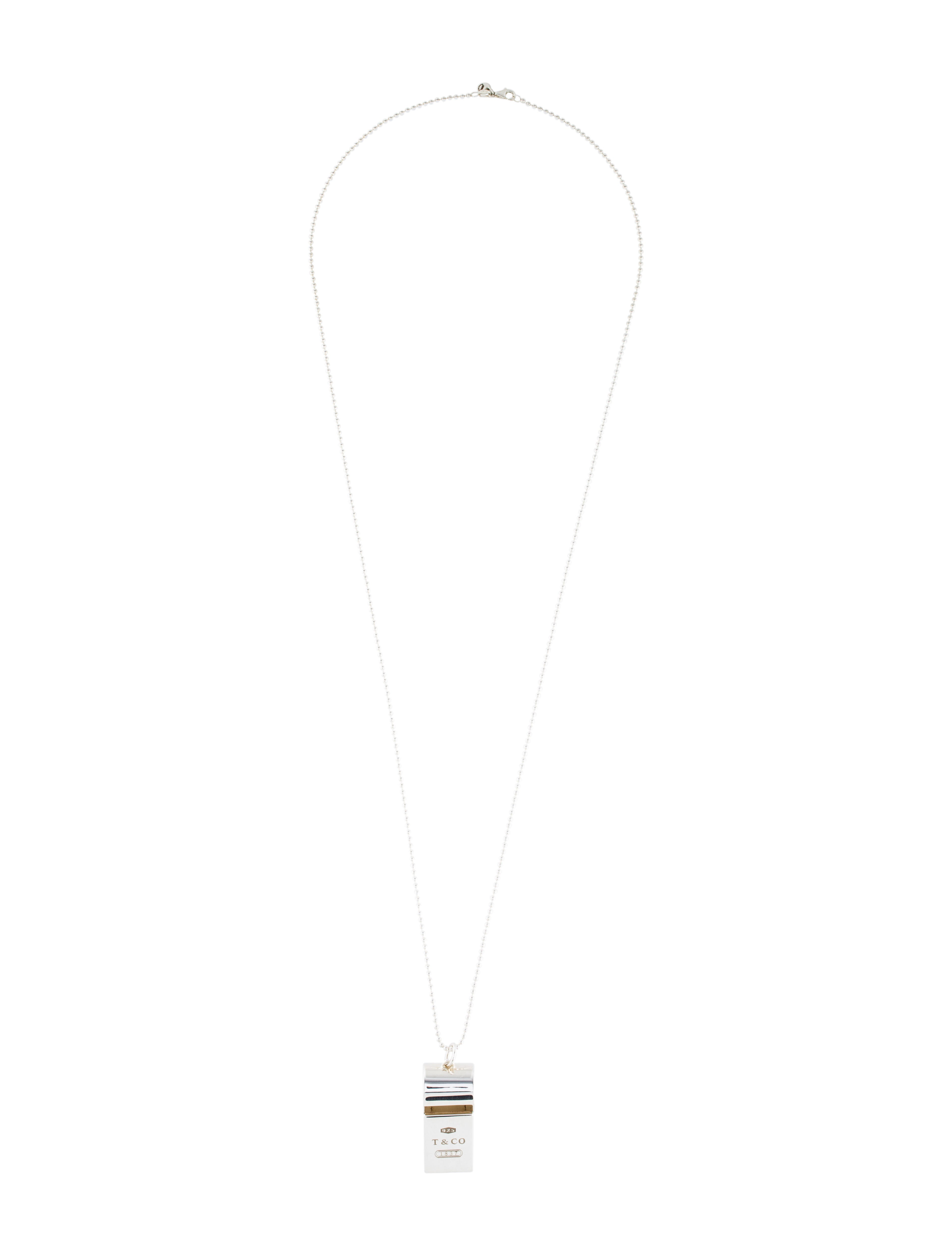 b8b11cb49a79 Tiffany   Co. 1837 Whistle Pendant Necklace - Necklaces - TIF77024 ...