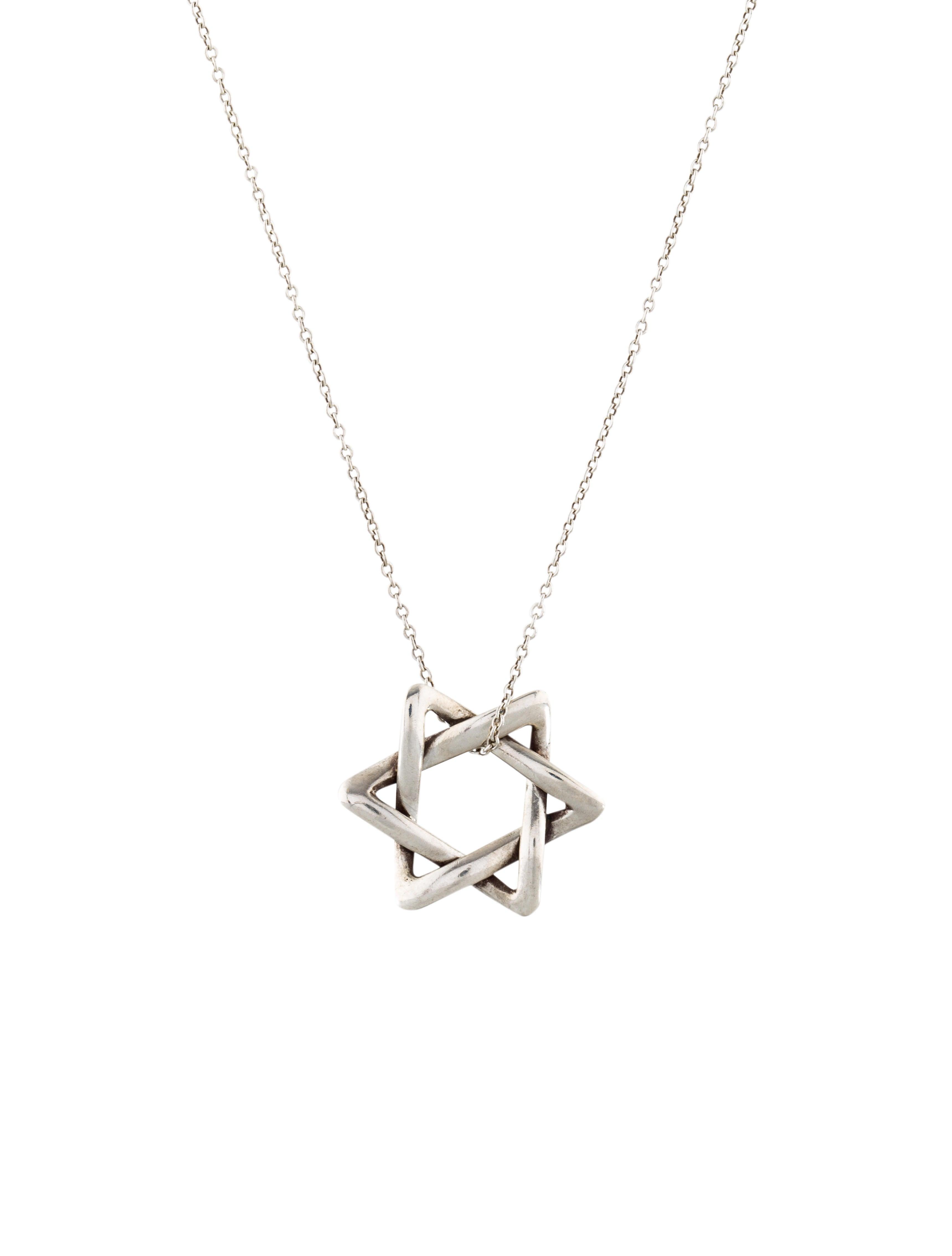 tiffany co star of david pendant necklace necklaces tif77385