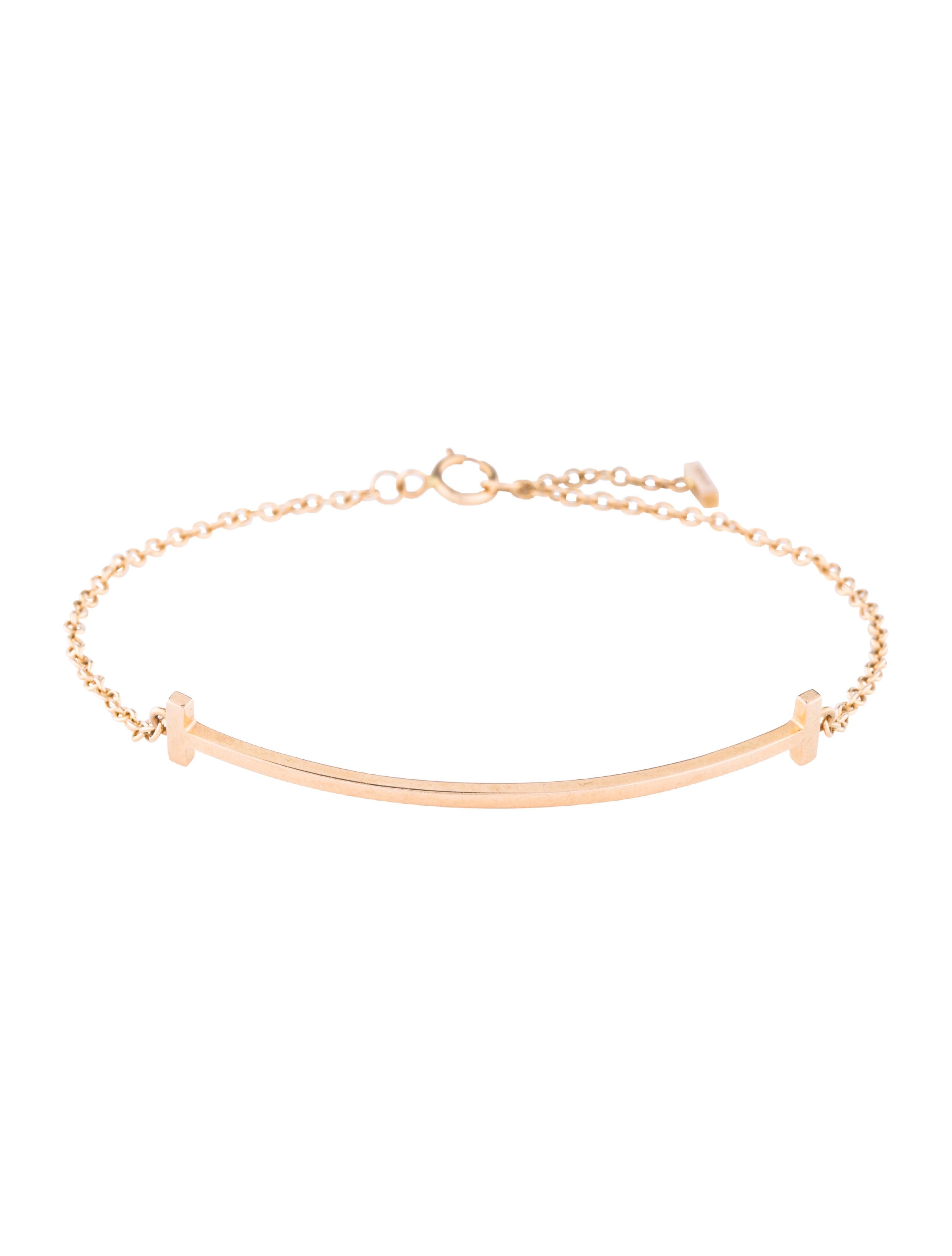 d4882bf59 Tiffany & Co. 18K T Smile Bracelet - Bracelets - TIF77628 | The RealReal