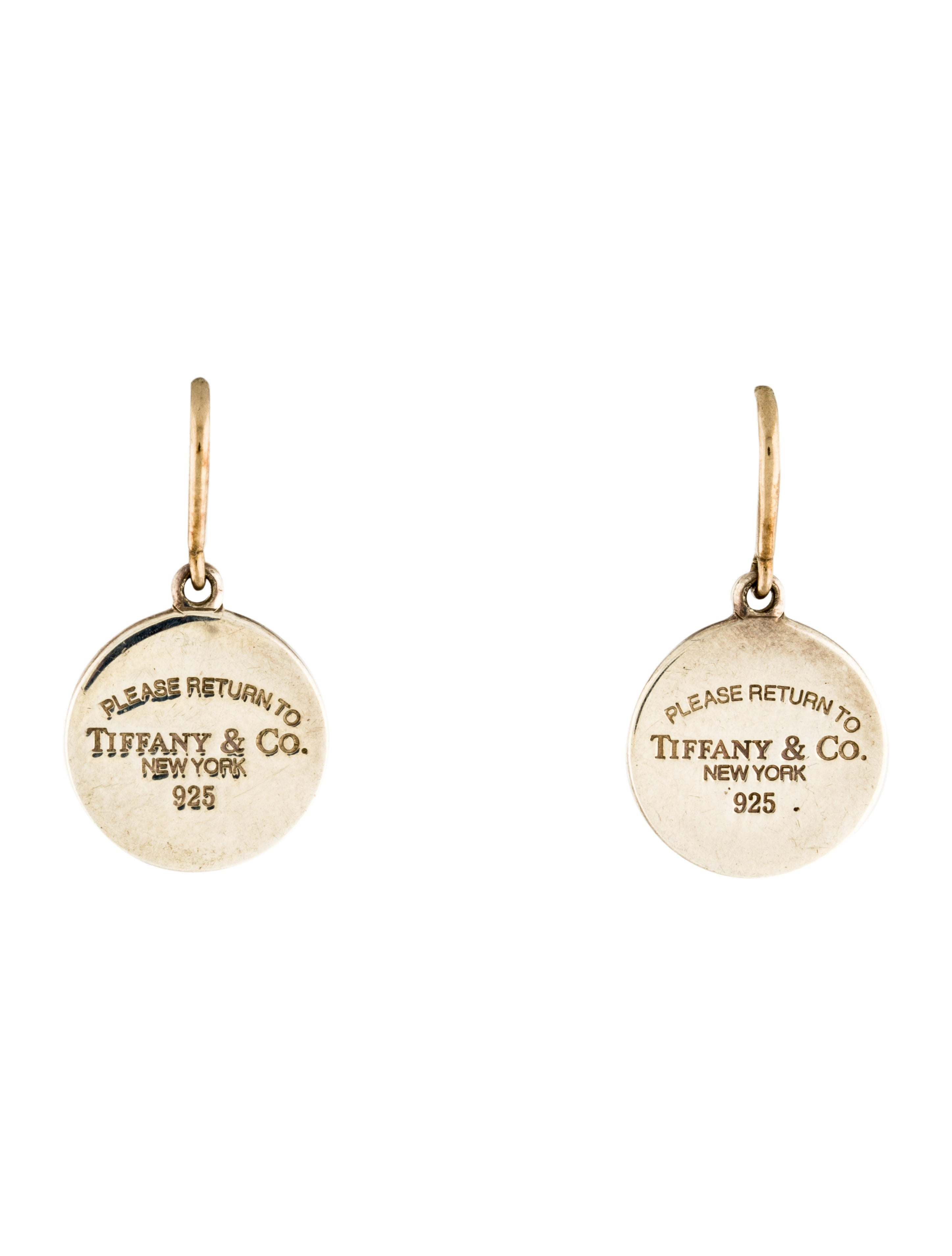 63afbabe1675e Round Tag Drop Earrings