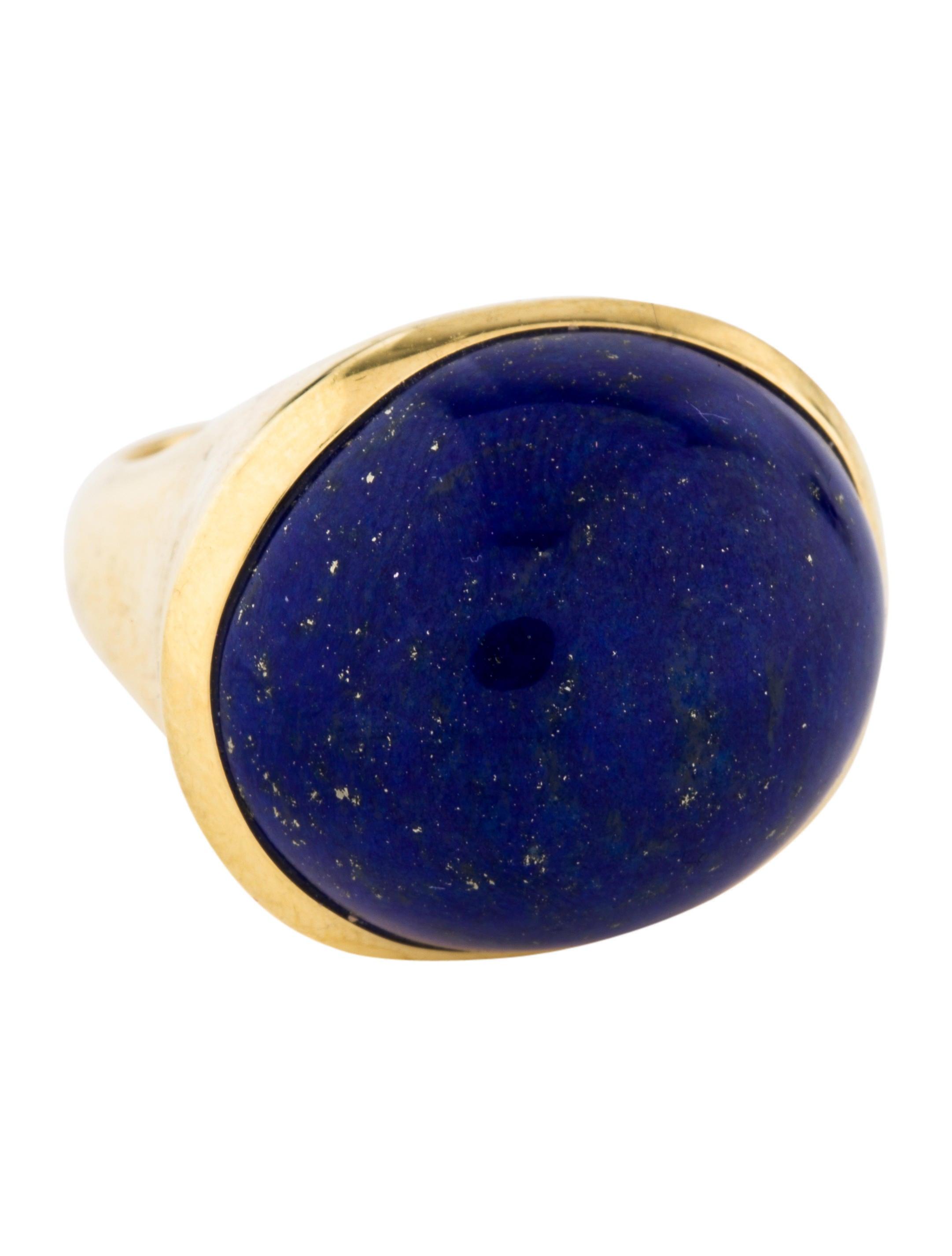 4435dff8c Tiffany & Co. 18K Lapis Lazuli Cocktail Ring - Rings - TIF83241 ...