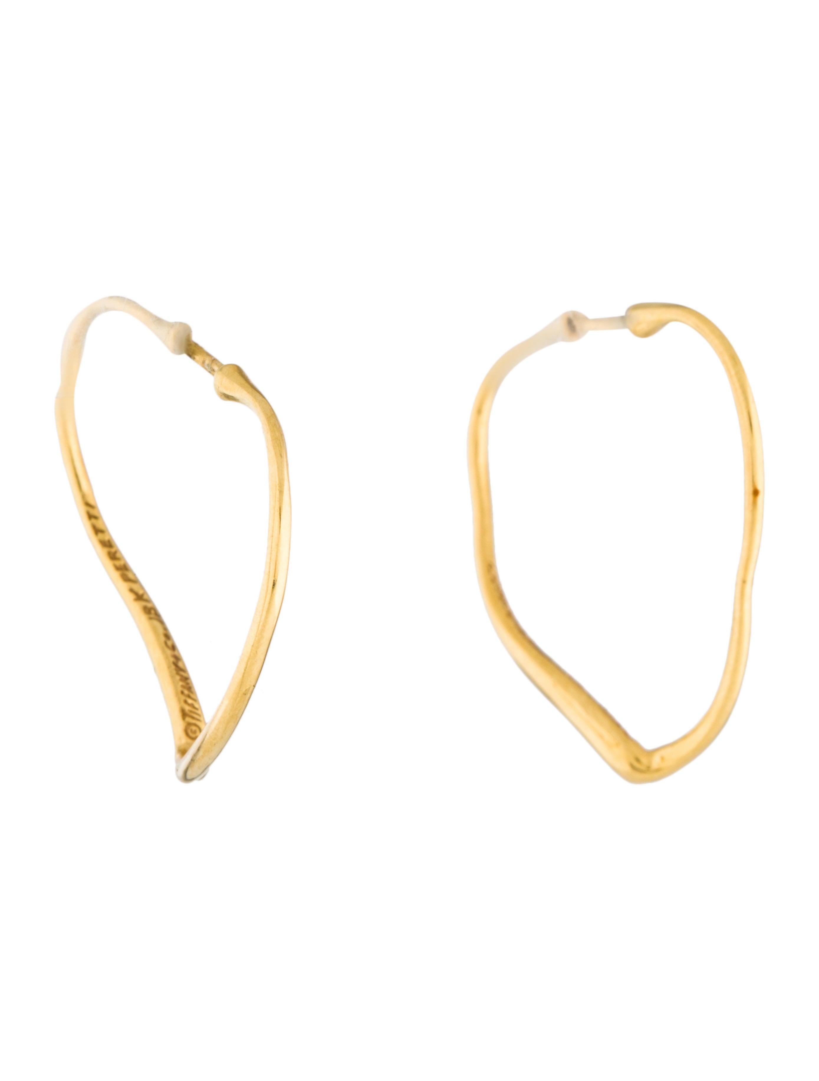 45c48003a Tiffany & Co. 18K Open Heart Hoop Earrings - Earrings - TIF83578 ...