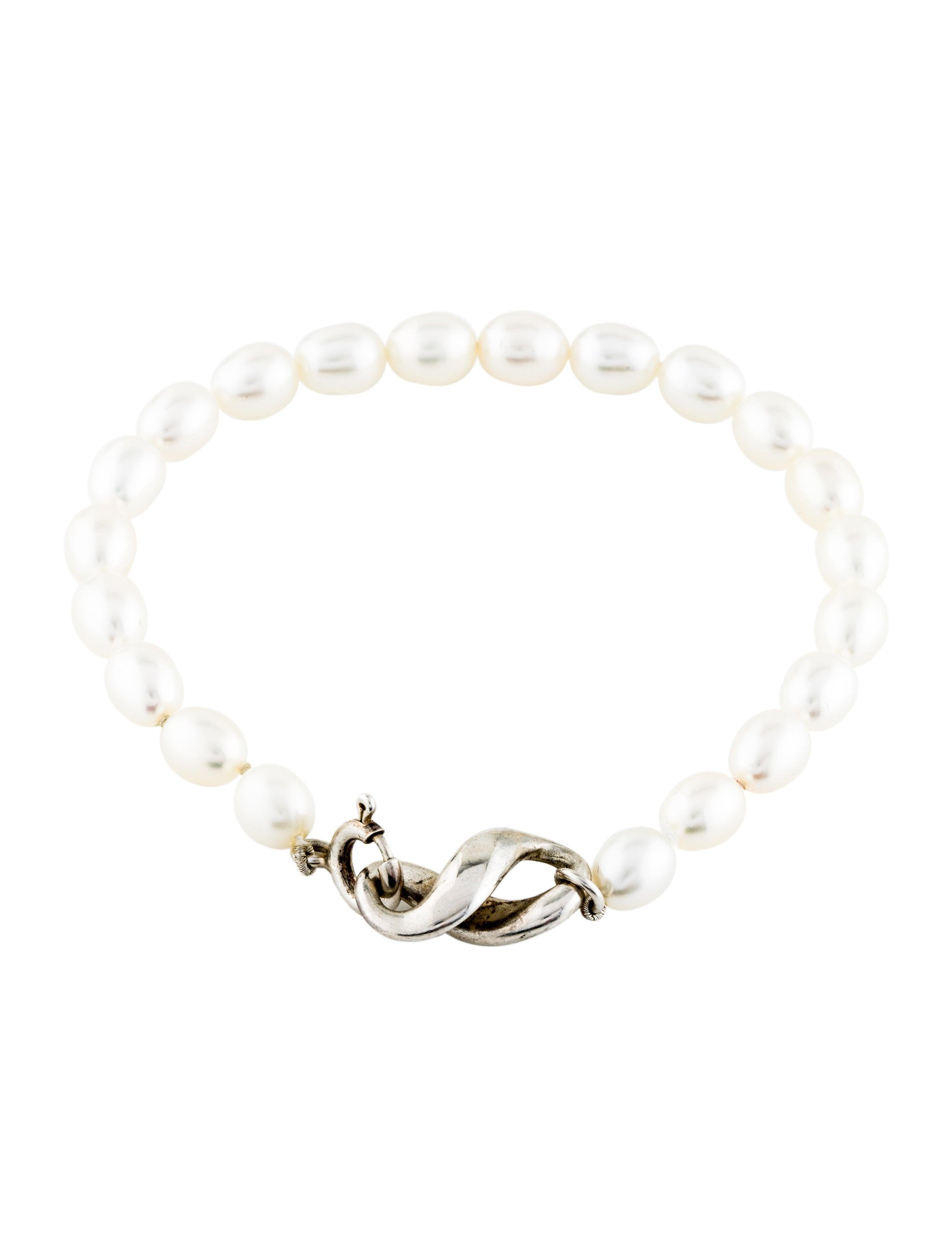 0a34a2afb Tiffany & Co. Pearl Infinity Bracelet - Bracelets - TIF85778   The ...