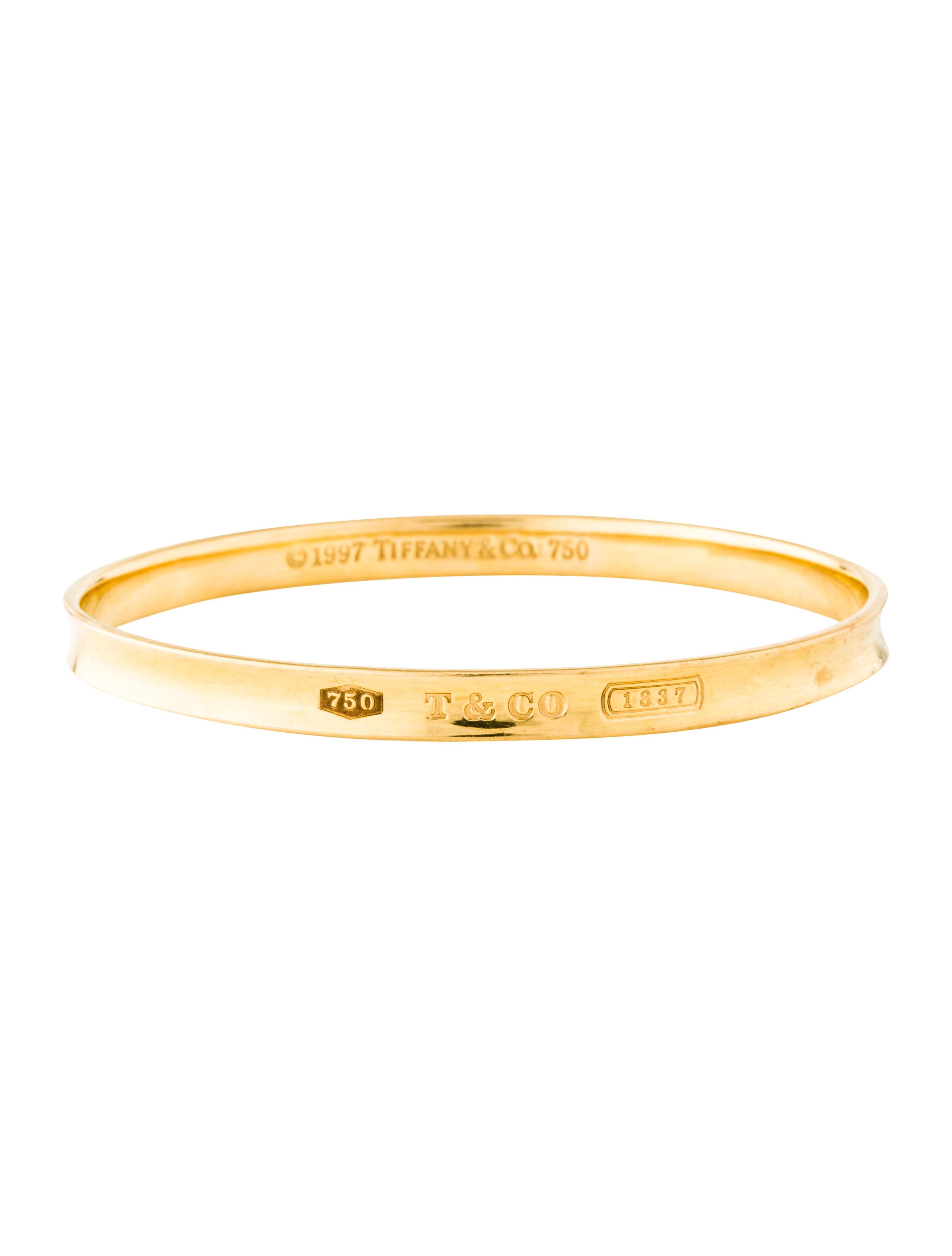 d2db7f246 Tiffany & Co. 18K 1837 Bangle - Bracelets - TIF89102 | The RealReal