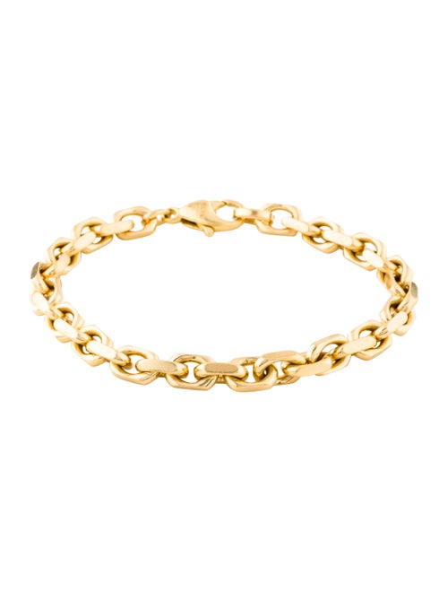 18K Oval Link Bracelet