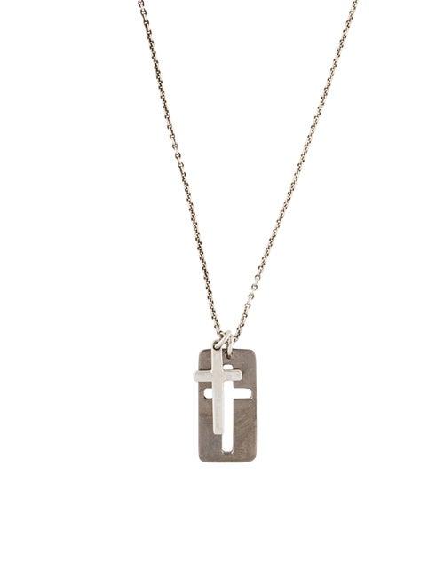 3b165554d Tiffany Co Double Cross Pendant Necklace Necklaces Tif89596