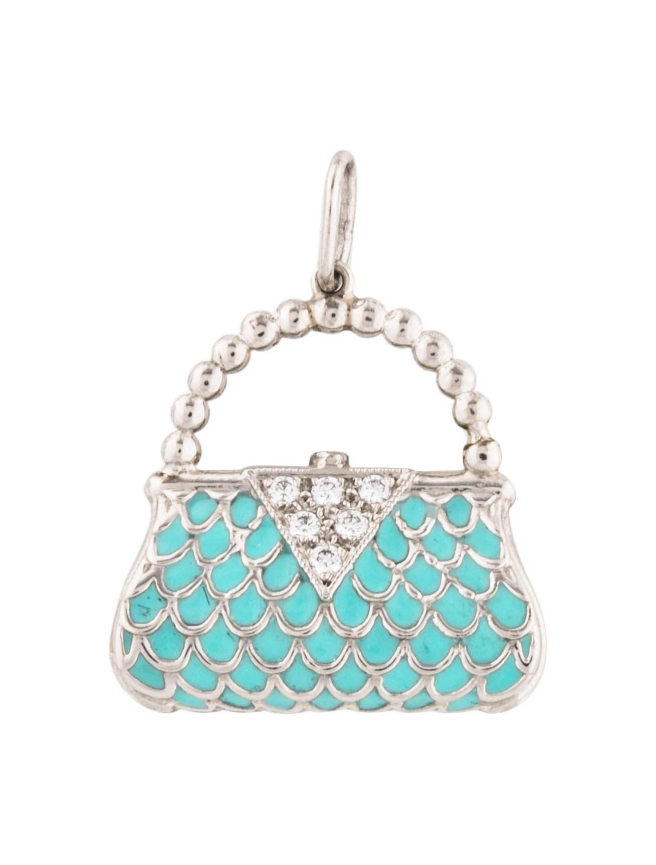 5bed5a9b78 Tiffany & Co. Diamond & Enamel Handbag Charm - Charms - TIF92409 ...