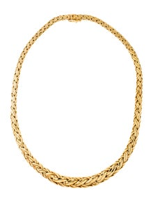 4a79acc4c8c8 Tiffany   Co. 18K Woven Graduated Chain Necklace