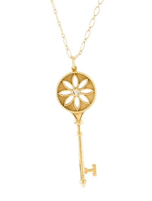 9786f28de Tiffany & Co. 18K Diamond Large Daisy Key Pendant Necklace ...