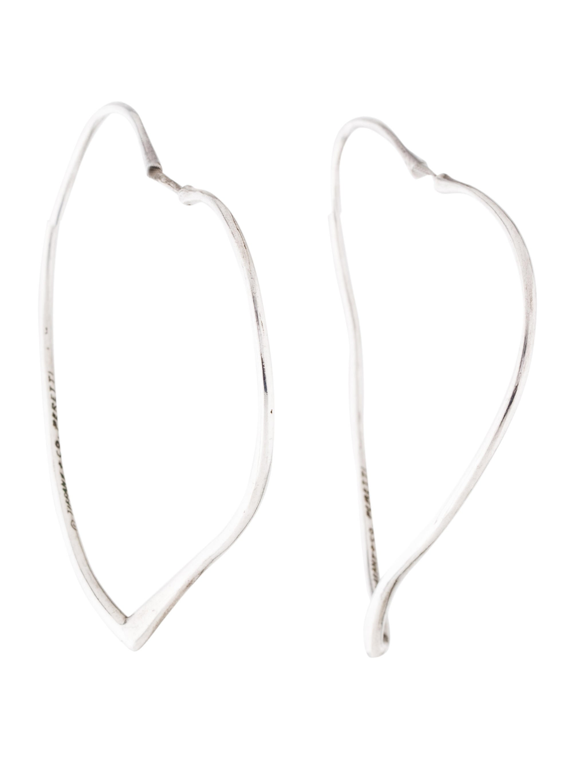 a7179fb90 Tiffany & Co. Open Heart Hoop Earrings - Earrings - TIF95564 | The ...