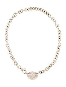 brand new 3261b 83a8b Tiffany   Co. Oval Tag Choker Necklace