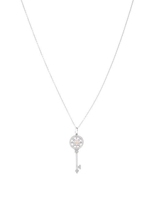 4f2bef548 Tiffany & Co. Two-Tone Diamond Daisy Key Pendant Necklace ...