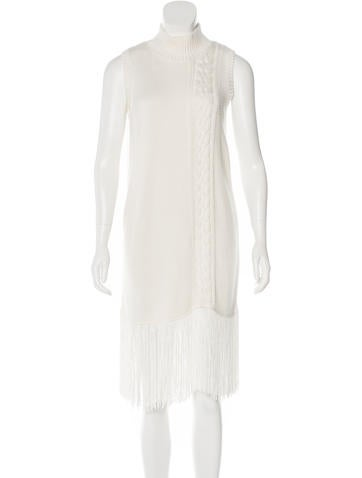 Timo Weiland Fringe-Trimmed Knit Dress None