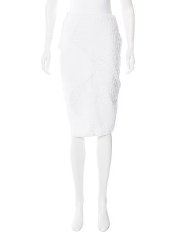Timo Weiland Eyelet Pencil Skirt None