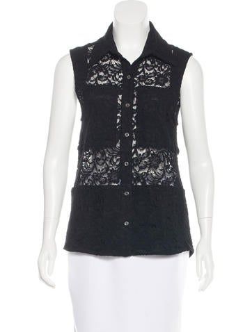 Timo Weiland Lace Sleeveless Top