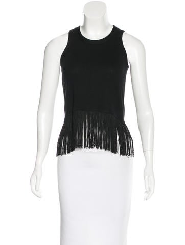 Timo Weiland Fringe-Trimmed Sleeveless Top None