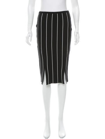 Timo Weiland Striped Knee-Length Skirt None