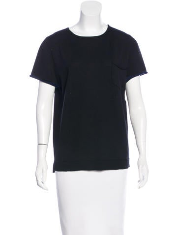 Timo Weiland Merino Wool Short Sleeve Top None
