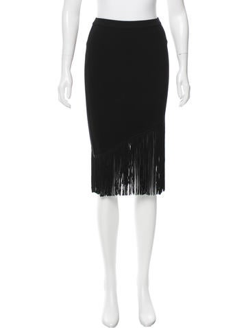 Timo Weiland Fringe-Trimmed Rib Knit Skirt None