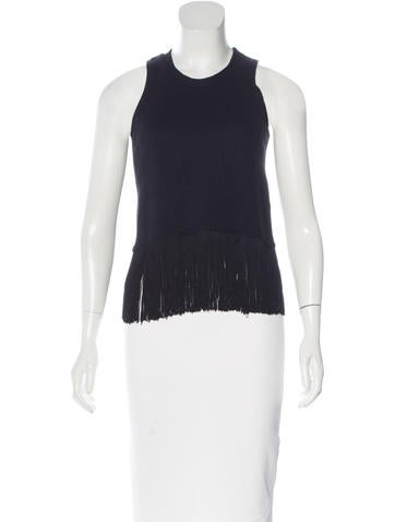 Timo Weiland Fringe-Trimmed Knit Top None