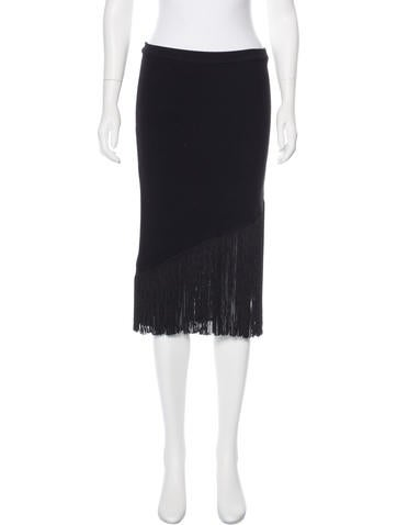 Timo Weiland Fringe-Trimmed Pencil Skirt None
