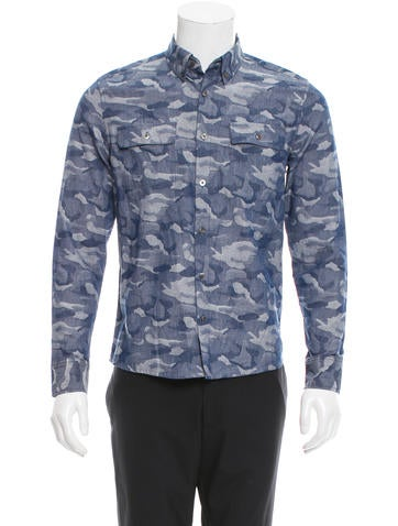 Timo Weiland Camouflage Button Up Shirt Clothing