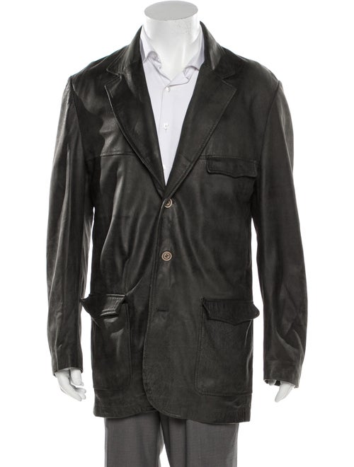 Tincati Leather Blazer Black