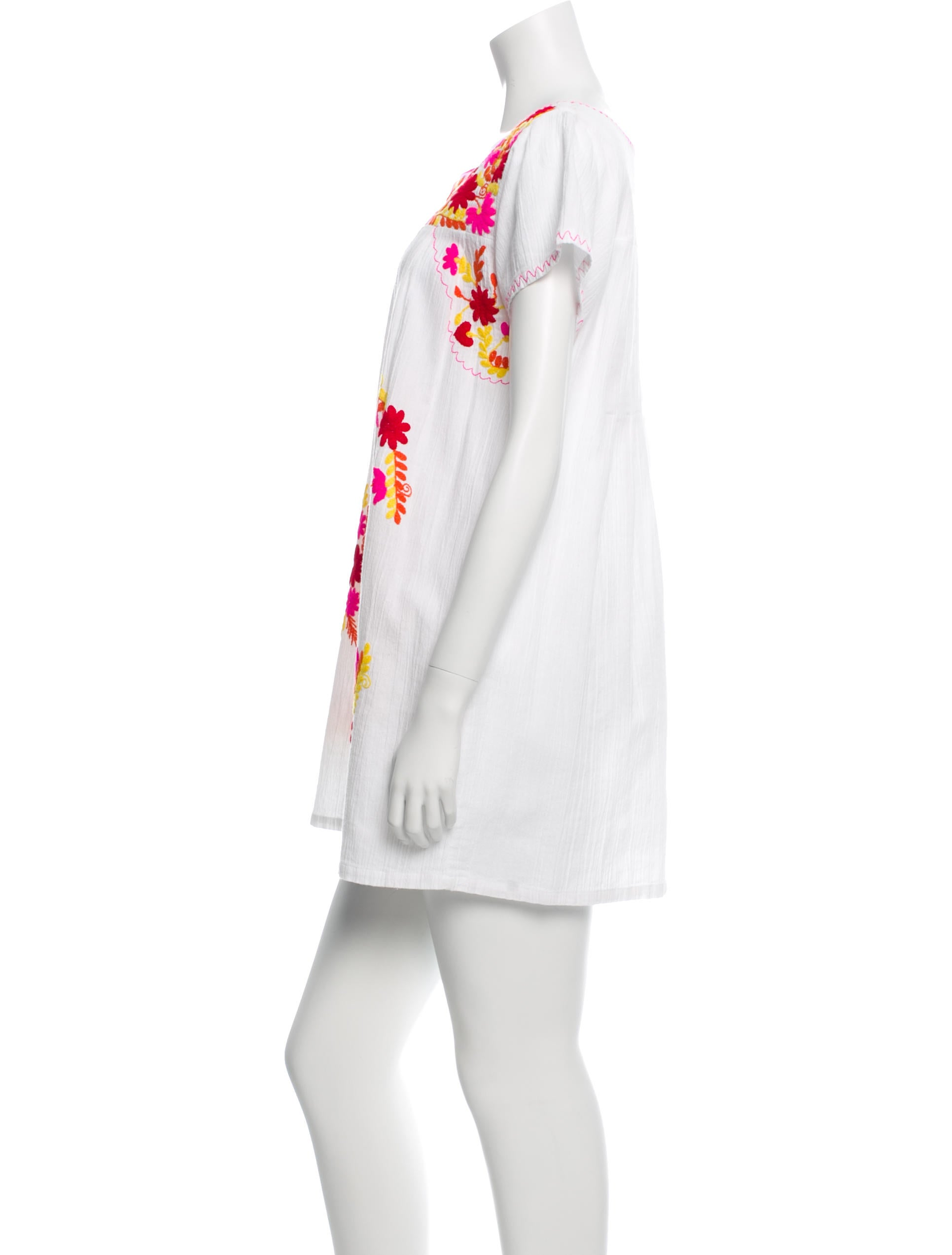 Tomas maier floral embroidered mini dress clothing