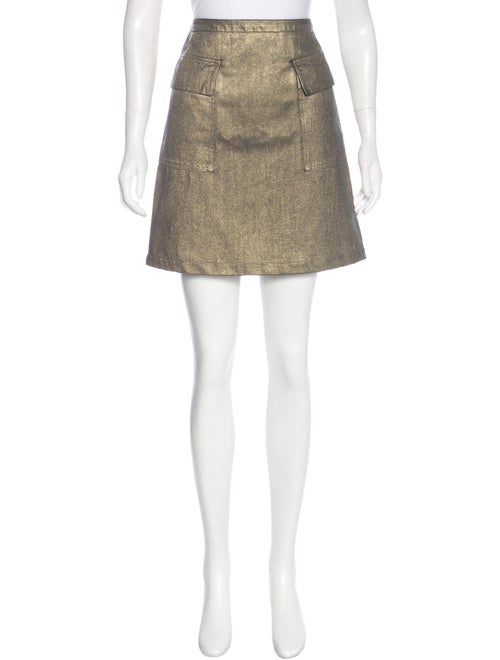 Tomas Maier Metallic Mini Skirt Metallic