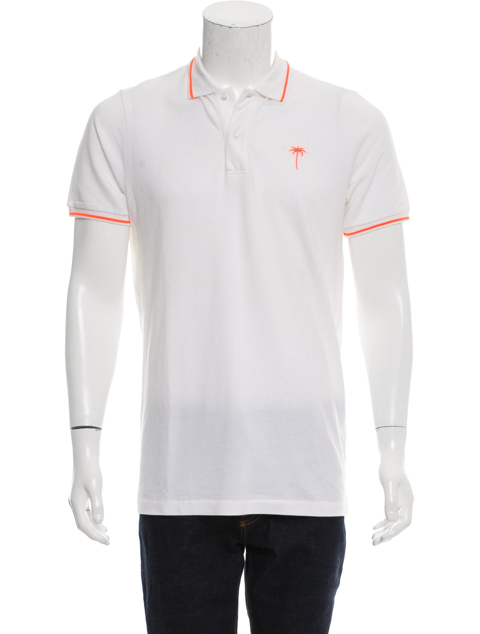 Tomas maier logo embroidered polo shirt clothing for Logo printed polo shirts